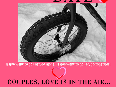 Love is in the air...THE COLD AIR! Take advantage of this easy date opportunity, wine sold seperate.