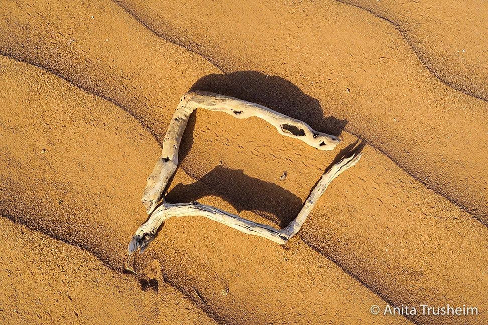 Foto Anita Trusheim Rahmen auf Wüstensand