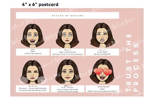 Brow Aftercare Cards - What to expect