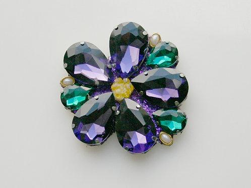 DST-301- Violet Crystal Brooch