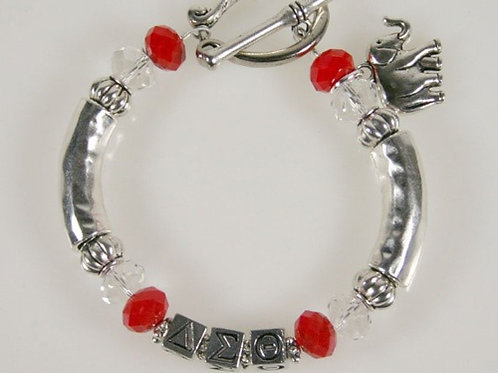DST-205- Smooth Silver Tube Bracelet