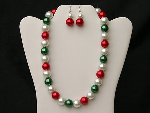 CSI-111 Pearl Necklace and Earring Set