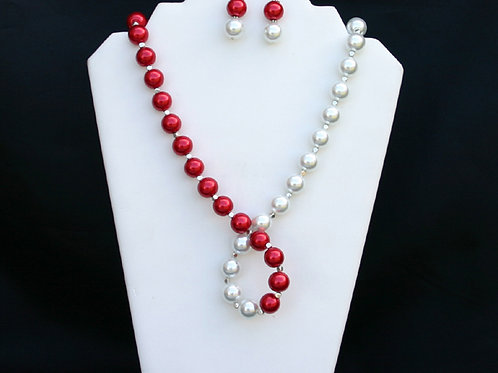 CSI-106-Twisted Necklace and Earring Set