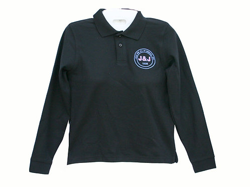 J&J-803-Youth Long Sleeve Polo Shirt