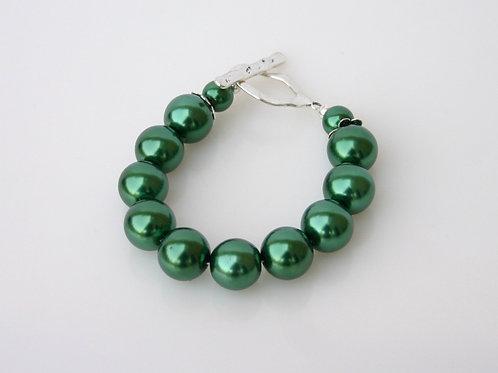 CSI-206-Green Pearl Bracelet