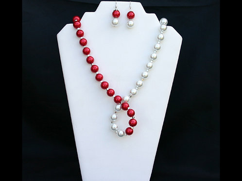 DST-117-Twisted Necklace and Earring Set