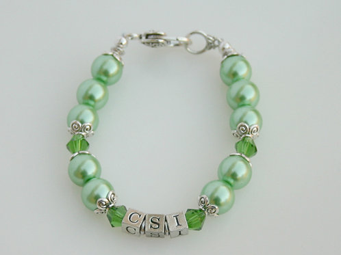 CSI-204-Green Pearl Bracelet