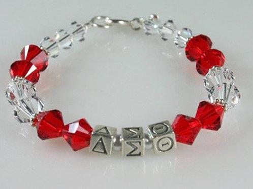 DST-204- Red & White Swarovski Bracelet