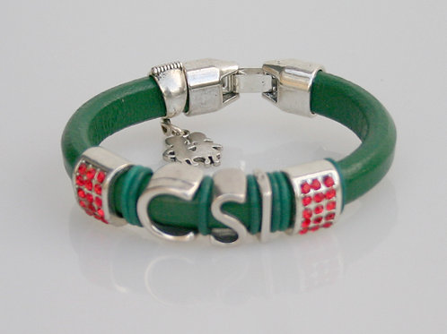 CSI-001- Leather Slider Bracelet