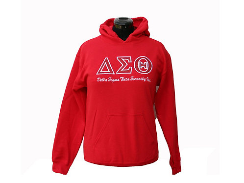 DST-600- Greek Letter Pull Over Hoodie