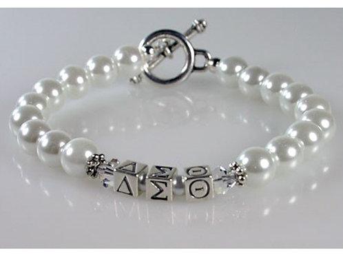DST-201- White Pearl Bracelets