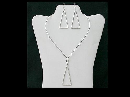 DST-112- Choker, Pendant & Earring Set