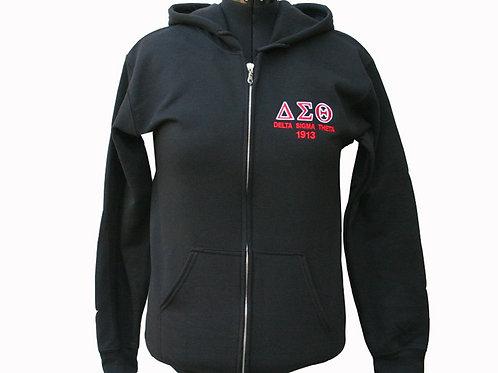 DST-603-Greek Letter Zip up Hoodie