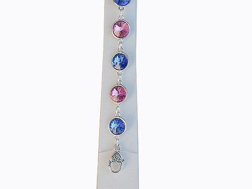 J&J-207-Link Crystal Bracelet
