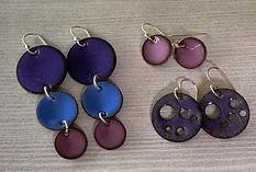 ijewelry_enamel_earrings.jpg  Cascading earrings, purple
