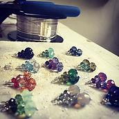 swarovski crystal dangle earrings work in progress
