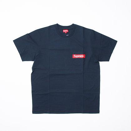 Supreme / Mesh Stripe Pocket Tee Navy / Lサイズ