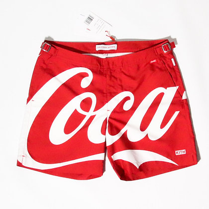 Kith x Coca-Cola x Orelebar Brown / Bulldog Swim Trunk Red