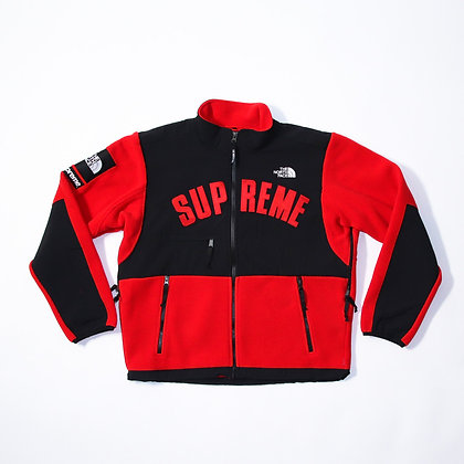 Supreme × The North Face /Arc Logo Denali Fleece Jacket / Red