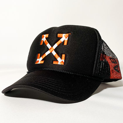 Virgil Abloh x MCA Figures of Speech Arrows Trucker Hat Black