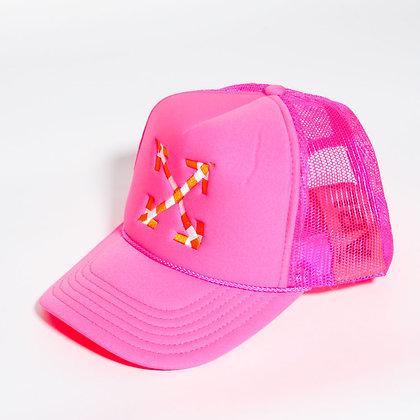 Virgil Abloh x MCA Figures of Speech Arrows Trucker Hat Pink