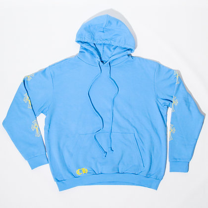 Chrome Hearts × Drake / Certified Lover Boy Hoodie Baby Blue / XL