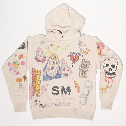 Saint Michael / Graffiti Hoodie / Lサイズ