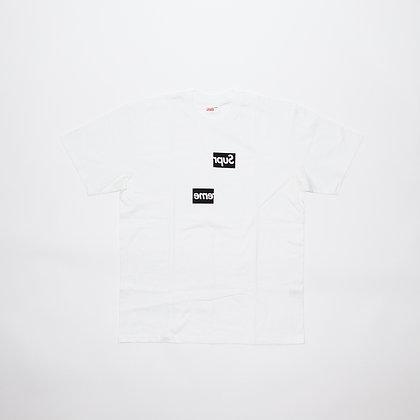 Supreme × Comme des Garcons / Split Box Logo Tee White / Lサイズ