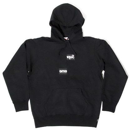Supreme × Comme des Garcons / Split Box Logo Hoodie Black / Lサイズ