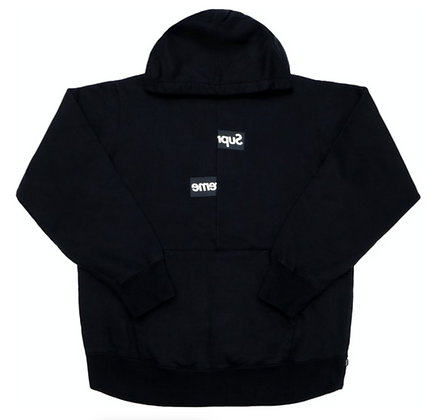Supreme × Comme des Garcons / Split Box Logo Hooded Sweatshirt Black