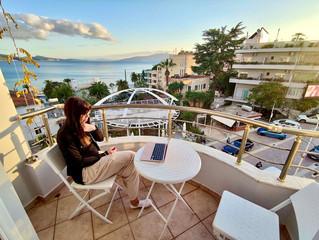 Biuro z widokiem na Korfu