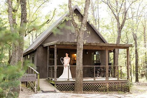 Bride in front of Cabin.jpg