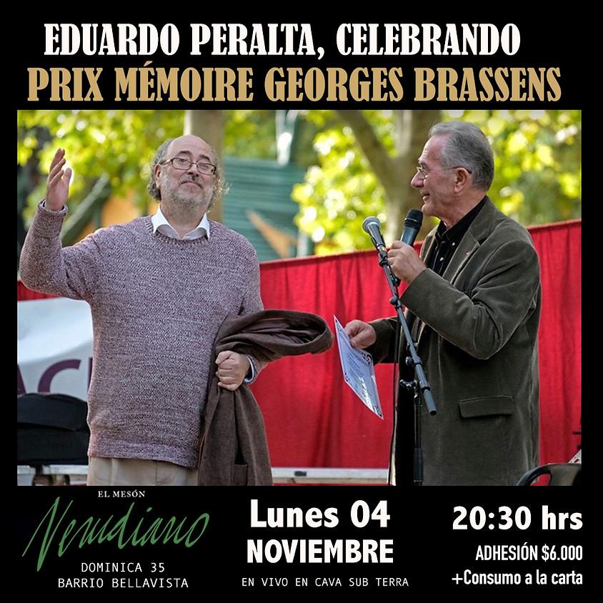 EDUARDO PERALTA CELEBRANDO PRIX MÉMOIRE GEORGES BRASSENS