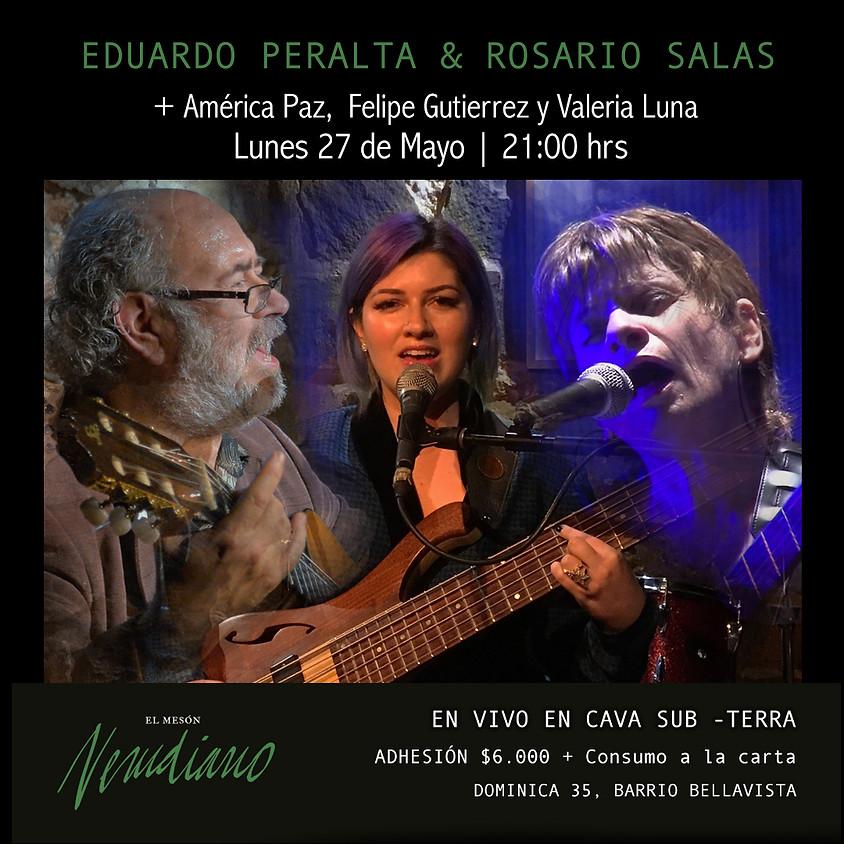 EDUARDO PERALTA con ROSARIO SALAS + AMÉRICA PAZ