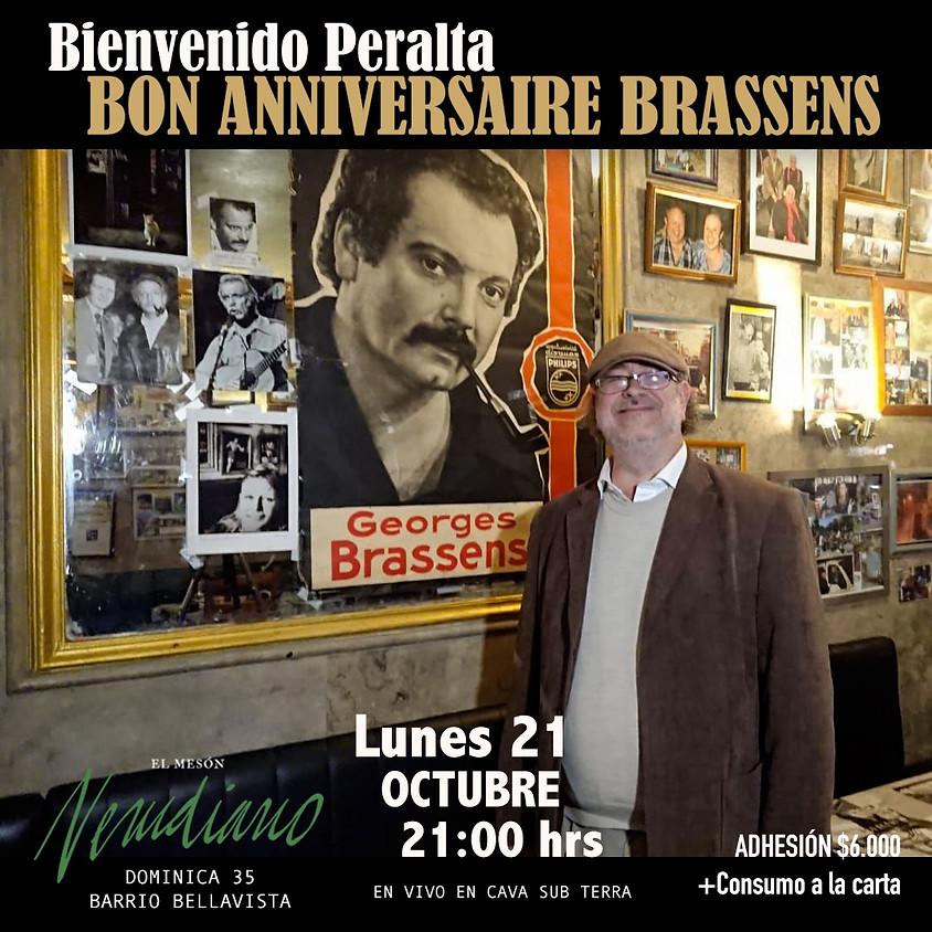 BON ANNIVERSAIRE BRASSENS / BIENVENIDO PERALTA