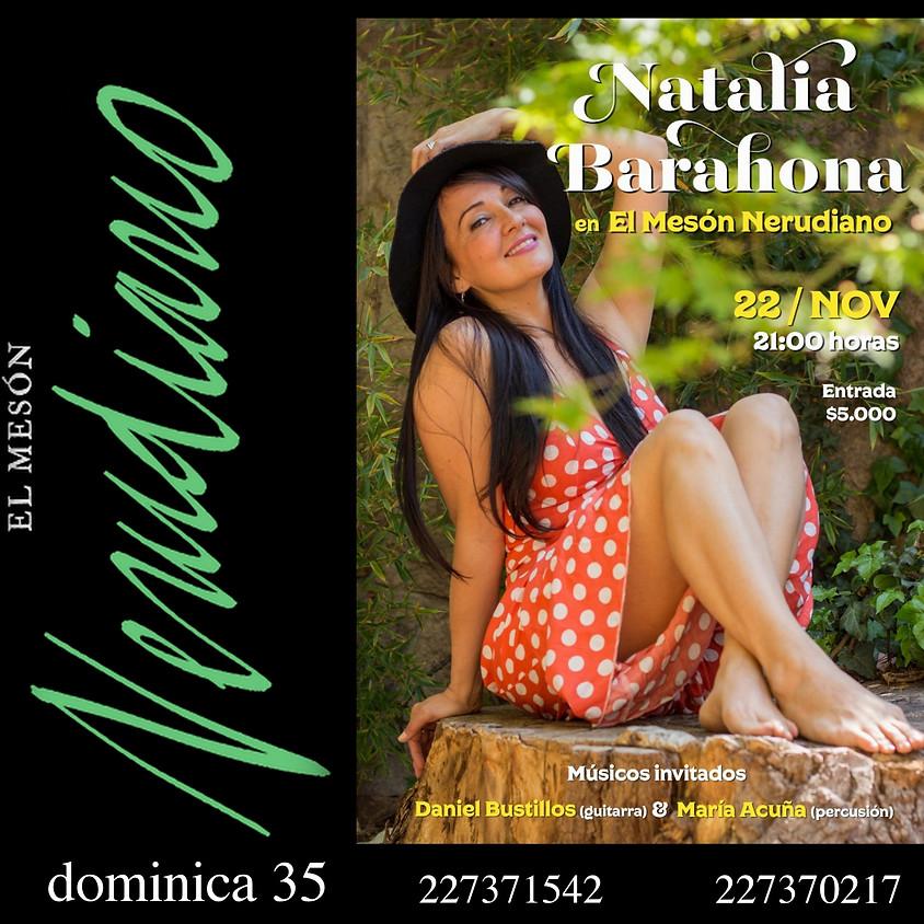Natalia Barahona en concierto