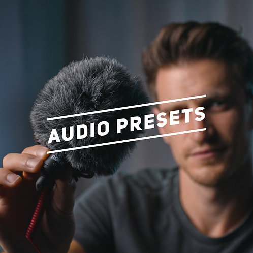 AUDIO PRESETS FOR PREMIERE PRO