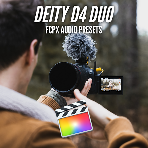 SH Deity D4 Duo Microphone Audio Presets Pack for FCPX