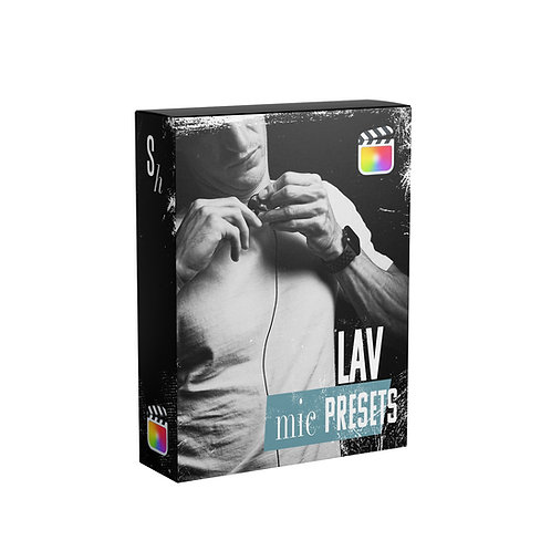 LAVALIER MIC PRESETS FOR FCPX