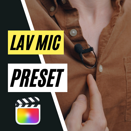 Lavalier Mic Preset for FCPX