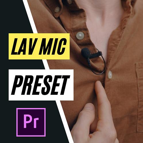 Lavalier Mic Preset for Premiere Pro