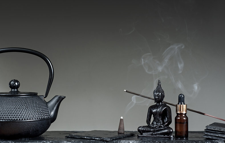 Tea tradition. Zen Concept. Massage, spa