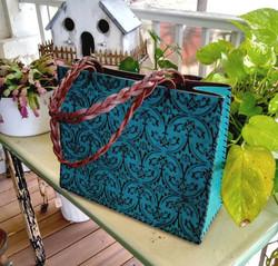 embossed turquoise