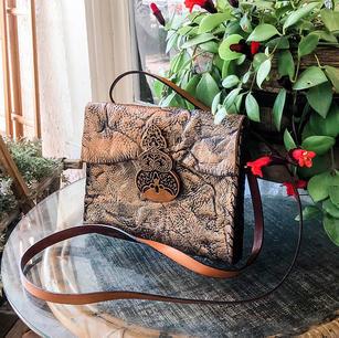 Copper Textured Crossbody Handbag