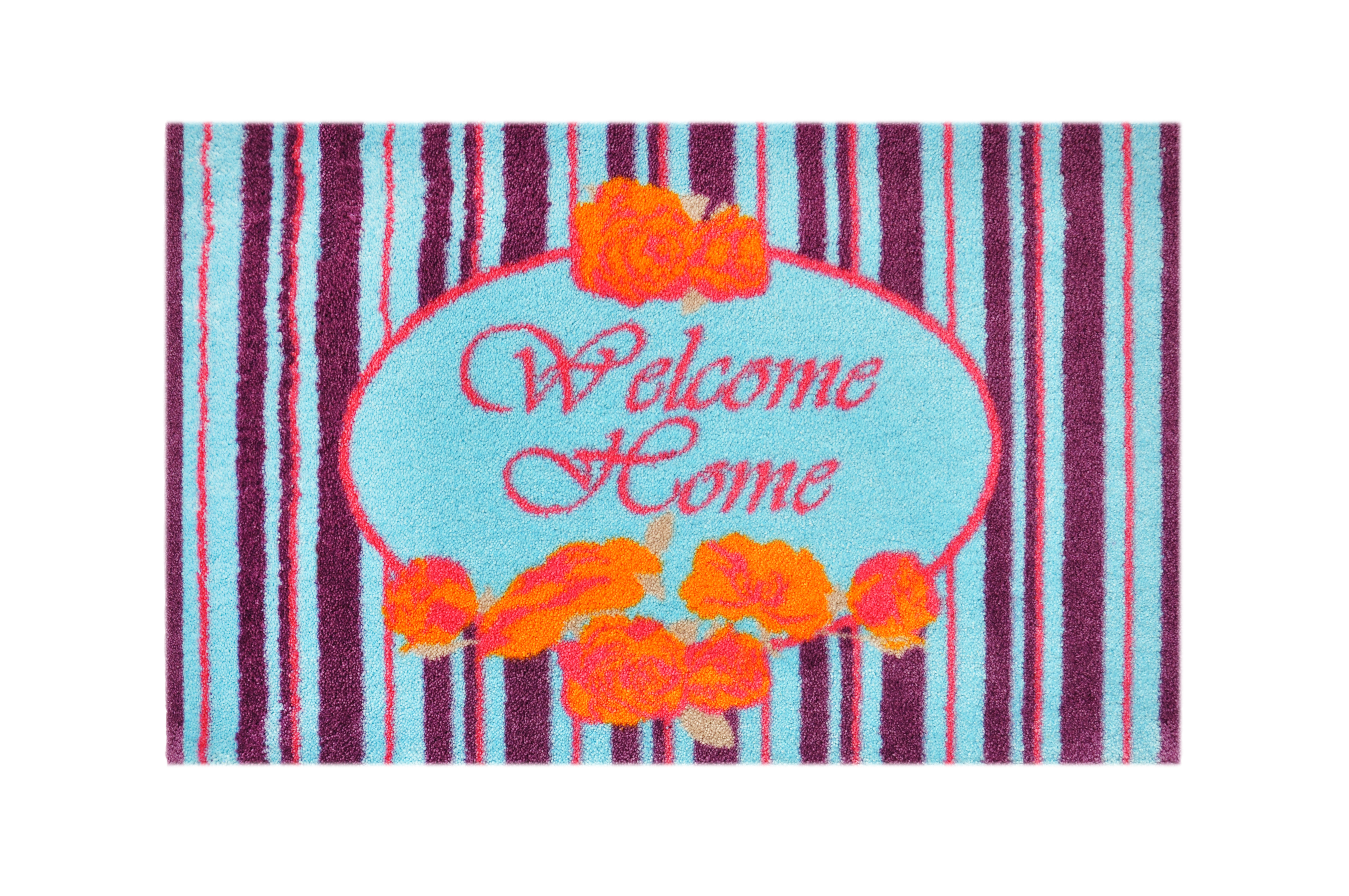 """Fußmatte """"Welcome Home"""" violett/blau"""