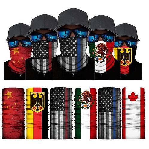 3D Magic Scarf National Flag Scarves Full Neck Gaitor-Tube-American Flag