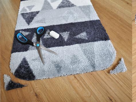 Darf ich meine Fußmatte individuell zuschneiden?