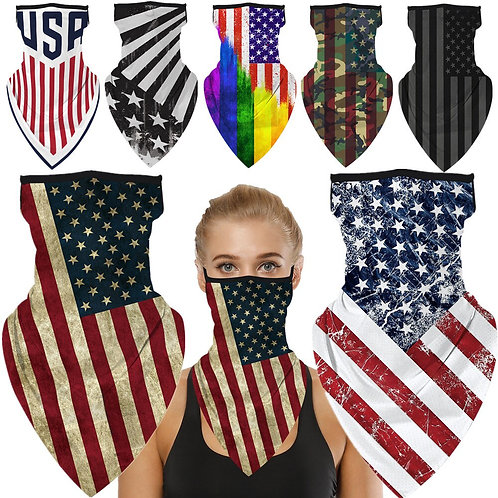 United States of America National Flag Face Mask-Neck Scarf-Gaitor-(11) Styles