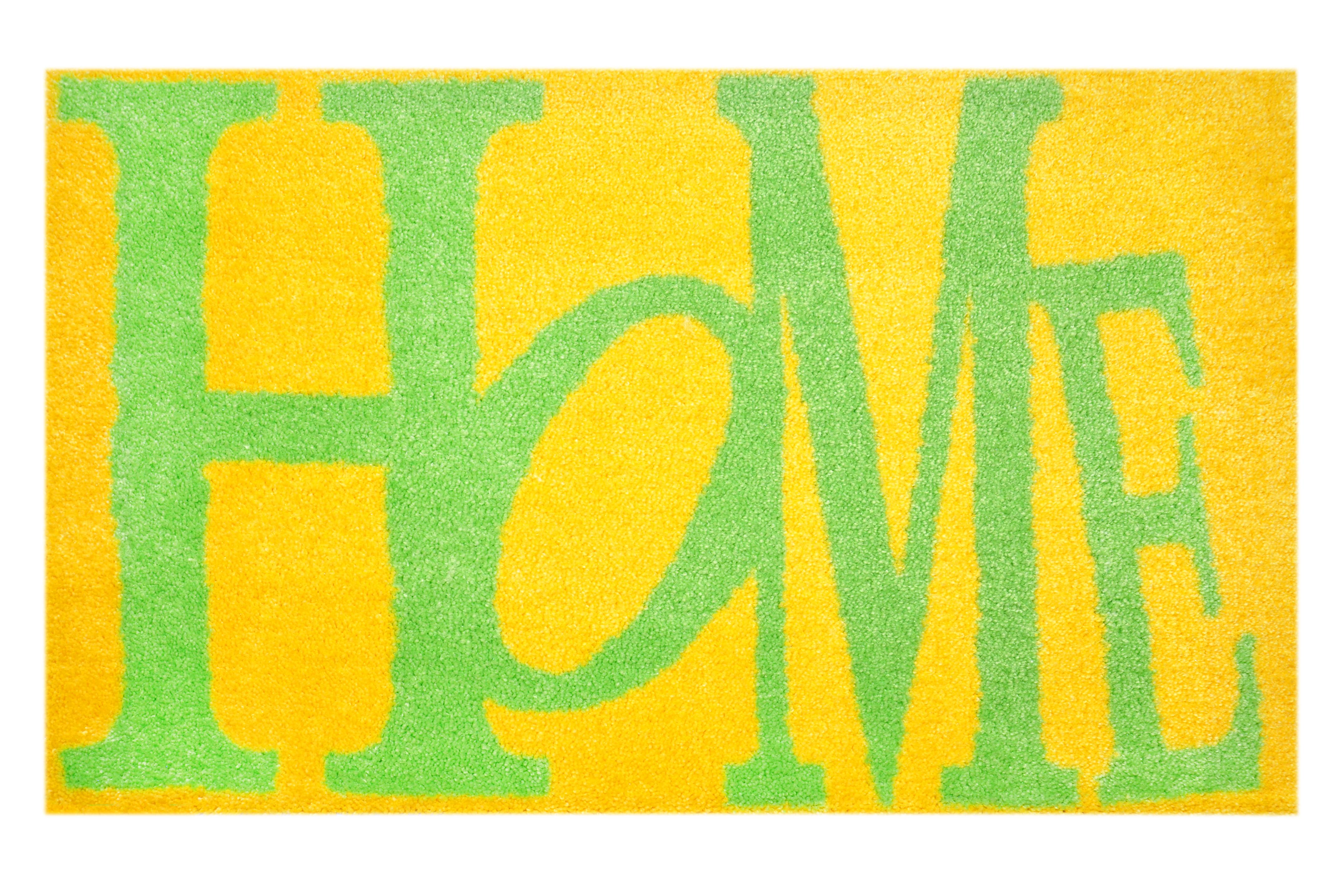 """Fußmatte """"Home"""" gelb/grün"""