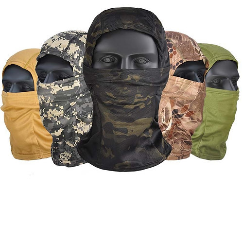 Outdoor Active Camouflage Balaclava Full Face Mask-Army Tactical Protection